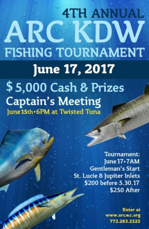Venture Construction Group of Florida Sponsors ARC of Martin County Fishing Tournament Stuart Florida