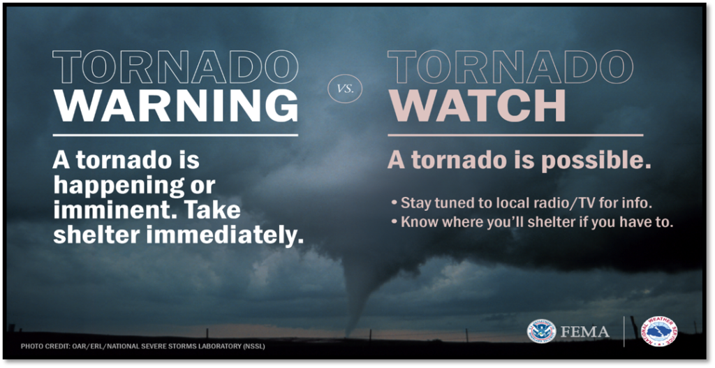 Know the Difference Between a Tornado Watch and a Tornado Warning