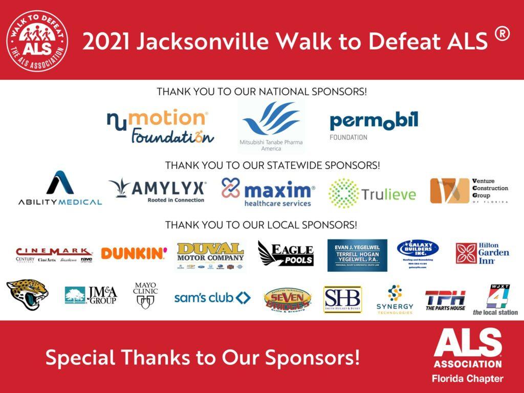 Venture Construction Group of Florida Sponsors Jacksonville Walk to Defeat ALS®